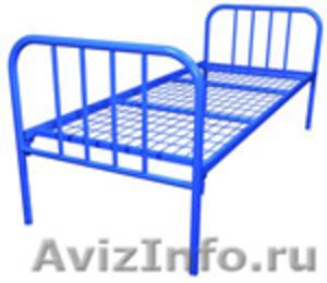 кровати металлические одноярусные, кровати двухъярусные для студентов и военых - Изображение #3, Объявление #692010
