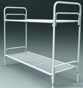 Кровати металлические одноярусные, для бытовок, кровати для студентов - Изображение #1, Объявление #1478961