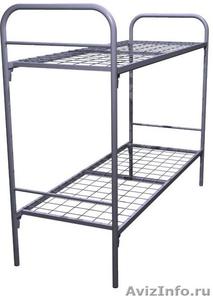 Кровати металлические одноярусные, для бытовок, кровати для студентов - Изображение #4, Объявление #1478961