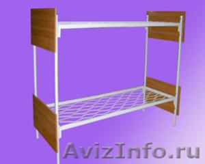 Кровати металлические трёхъярусные, кровати для школ, кровати металлические опт - Изображение #3, Объявление #1479361