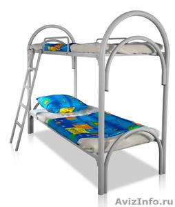Кровати металлические трёхъярусные, кровати для школ, кровати металлические опт - Изображение #4, Объявление #1479361