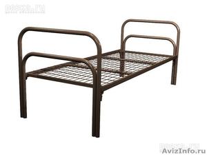 Кровати металлические одноярусные, для бытовок, кровати для студентов - Изображение #2, Объявление #1478961