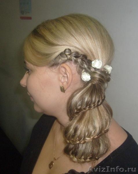 Косы прически на основе кос